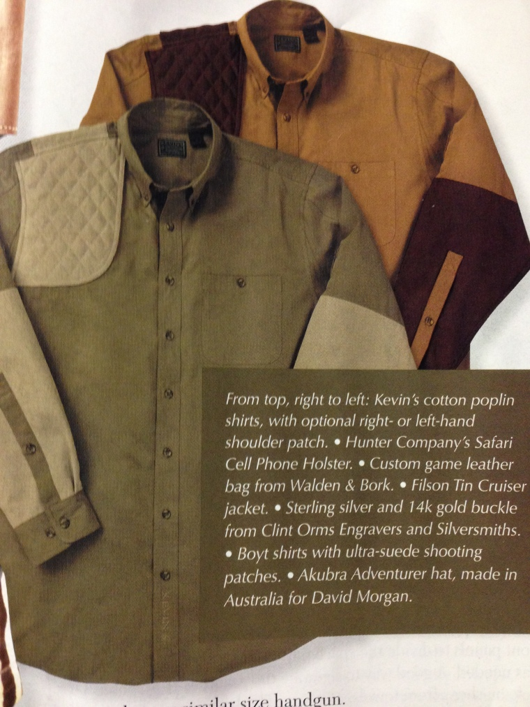 Our Shooting Shirt Wins Praise from Sporting Classics Magazine