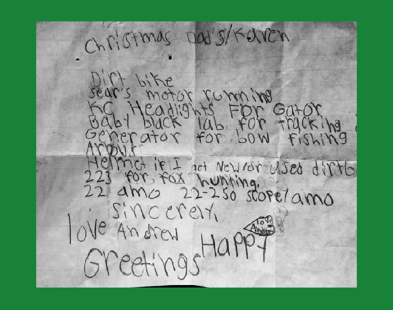 A Christmas List Left Behind